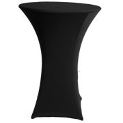 Stretch Cocktail Tablecloth Black Rib