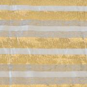 Stripe Lurex Runner Gold and Grey