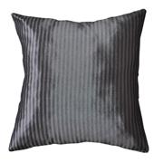 Taffeta Fine Stripe Cushion Cover Two Tone Silver Grey
