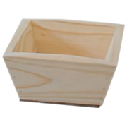 Tapered Wooden Box Vase