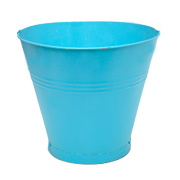 Tin Bucket Medium Assorted Colours