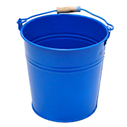 Tin Bucket Small Blue