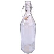 Triangular Clip Glass Bottle