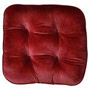 Tuck Cushion Velvet Wine Red