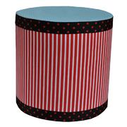 Upholstered Cylinder Poly Riser H