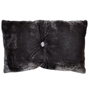 Velvet Rectangle Cushion Cover Grey Button Detail