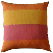 Weave Indian Cotton Broad Stripe Cushion Cover