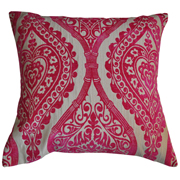 Weave Paisley Cushion Cover Magenta and Stone