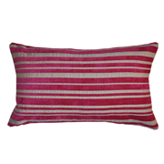 Weave Stripe Cushion Cover Magenta and Stone