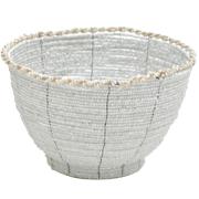 White Beaded Bowl