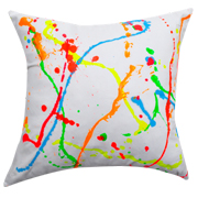 White Cushion Cover Lumo Splash
