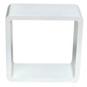 White Riser Cube Round Corner A