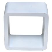White Riser Cube Round Corner C