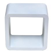 White Riser Cube Round Corner D