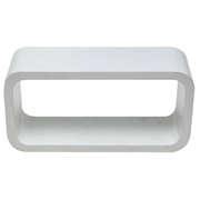 White Riser Rectangle Round Corner A