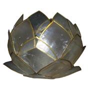 White Capiz Shell Lotus Lantern A