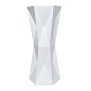 White Diamond Shaped Plinth