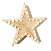 Wooden Marquee Light Star
