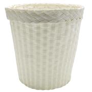 Woven Dustbin White