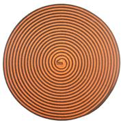 Orange and Brown Spiral Mat