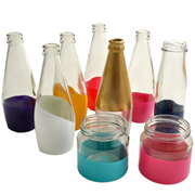 Painted Dipped Bottles Assorted