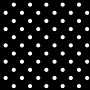 Top Cloth Polka Dot Minimat Black and White