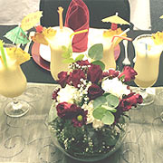 PYT STEWARDESS - COCKTAIL AND FLOWER ARRANGEMENTS