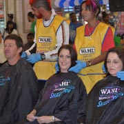 PYT Staff getting ready to shave ALL their hair off.