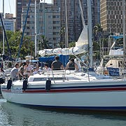April Yacht Hand students getting ready to sail.