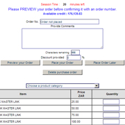 Customer Console - Place Orders Online