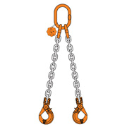2 chain sling double leg with master link and safety hook