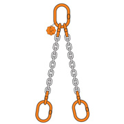 2 Chain sling double leg with double master link