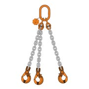 Chain Sling triple leg with master link safe hook