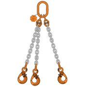 3Chain sling triple leg with master link safe hook eye