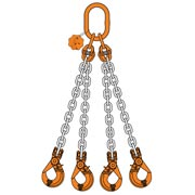 4Chain Sling quad leg with master link safe hook