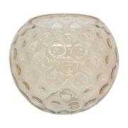 Amber Dimpled Ball Vase
