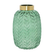 Emerald Bottle Vase 30cm
