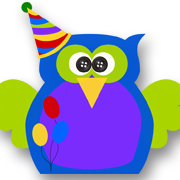 Birthday Owl Blue