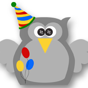 Birthday Owl Gey