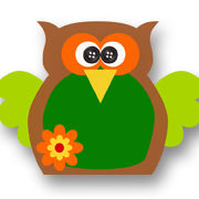 Flower Power Owl Brown