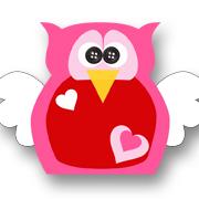 Heart Owl Pink