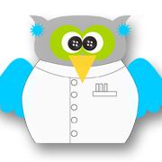 Mad Scientist Owl Blue