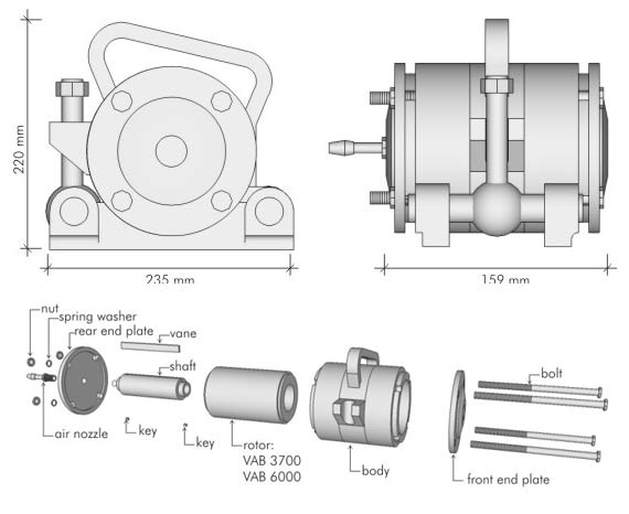 Overall Dimensions VAB 3700 & VAB 6000