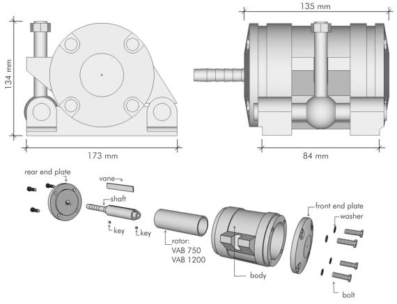 Overall Dimensions VAB 750 & VAB 1200