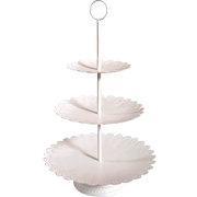 3 Tier Cupcake Stand Cream Frill