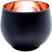 Ball Votive Black and Copper
