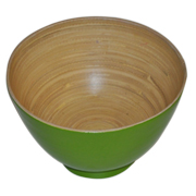 Bamboo Bowl Lime Green