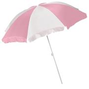 Beach Umbrella Baby Pink and White