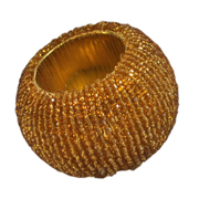 Beaded Napkin Ring Gold
