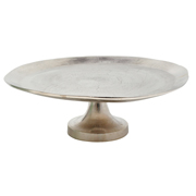 Beaten Cake Stand Silver Large